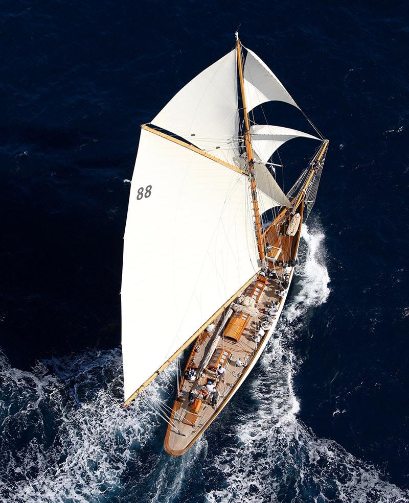 Sailboat sailing during the Voiles de Saint-Tropez