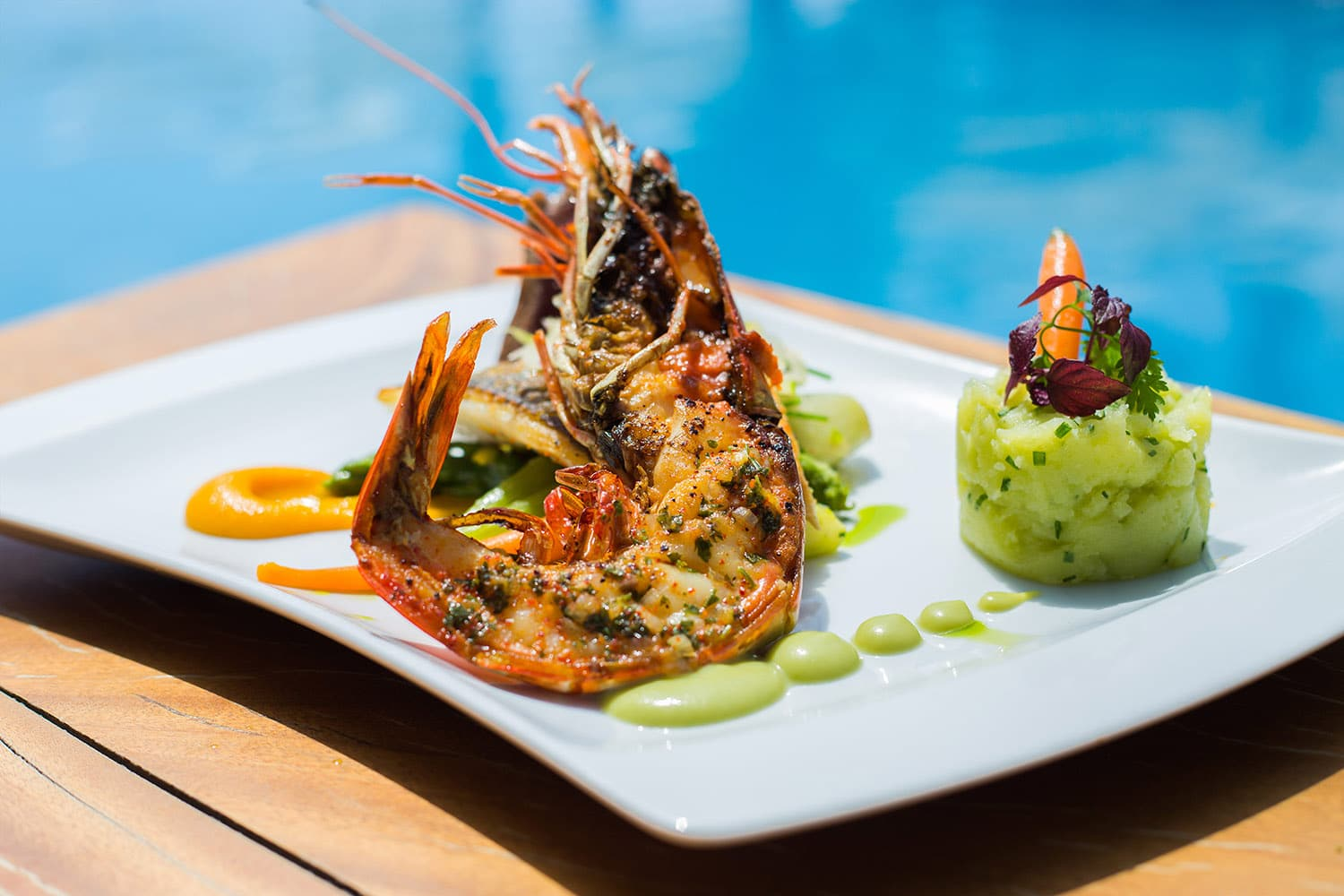 Seafood by the pool at Nikki Beach