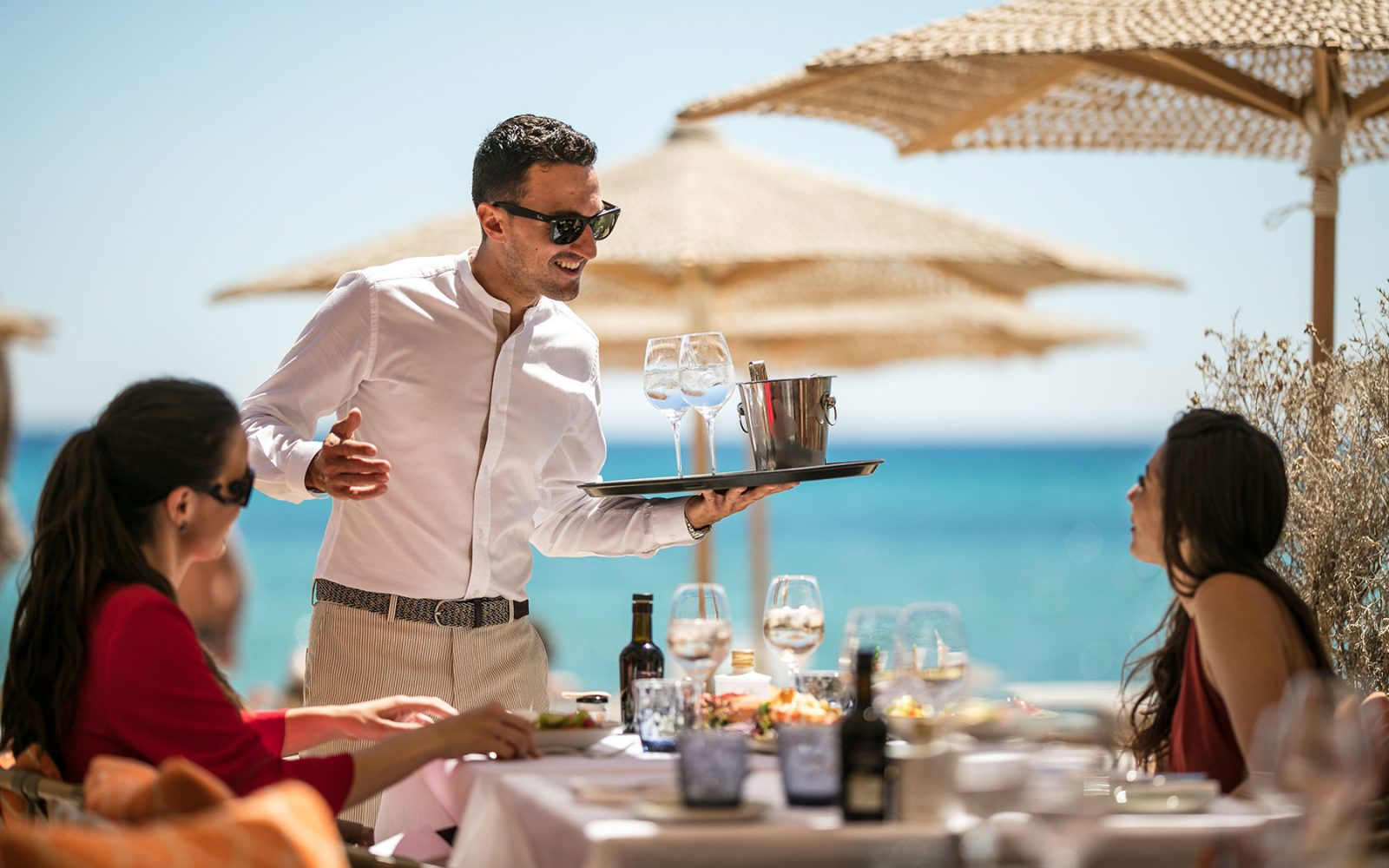Byblos Beach, the private beach of the Byblos Saint-Tropez hotel