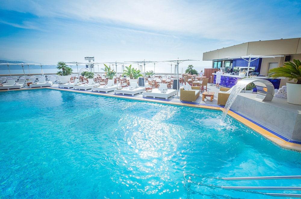 Photo of the Nikki Beach Monte Carlo rooftop pool