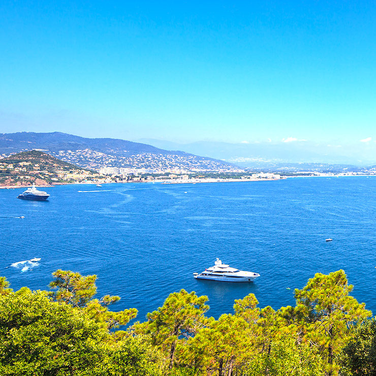 Cannes Bay view from a luxury villa