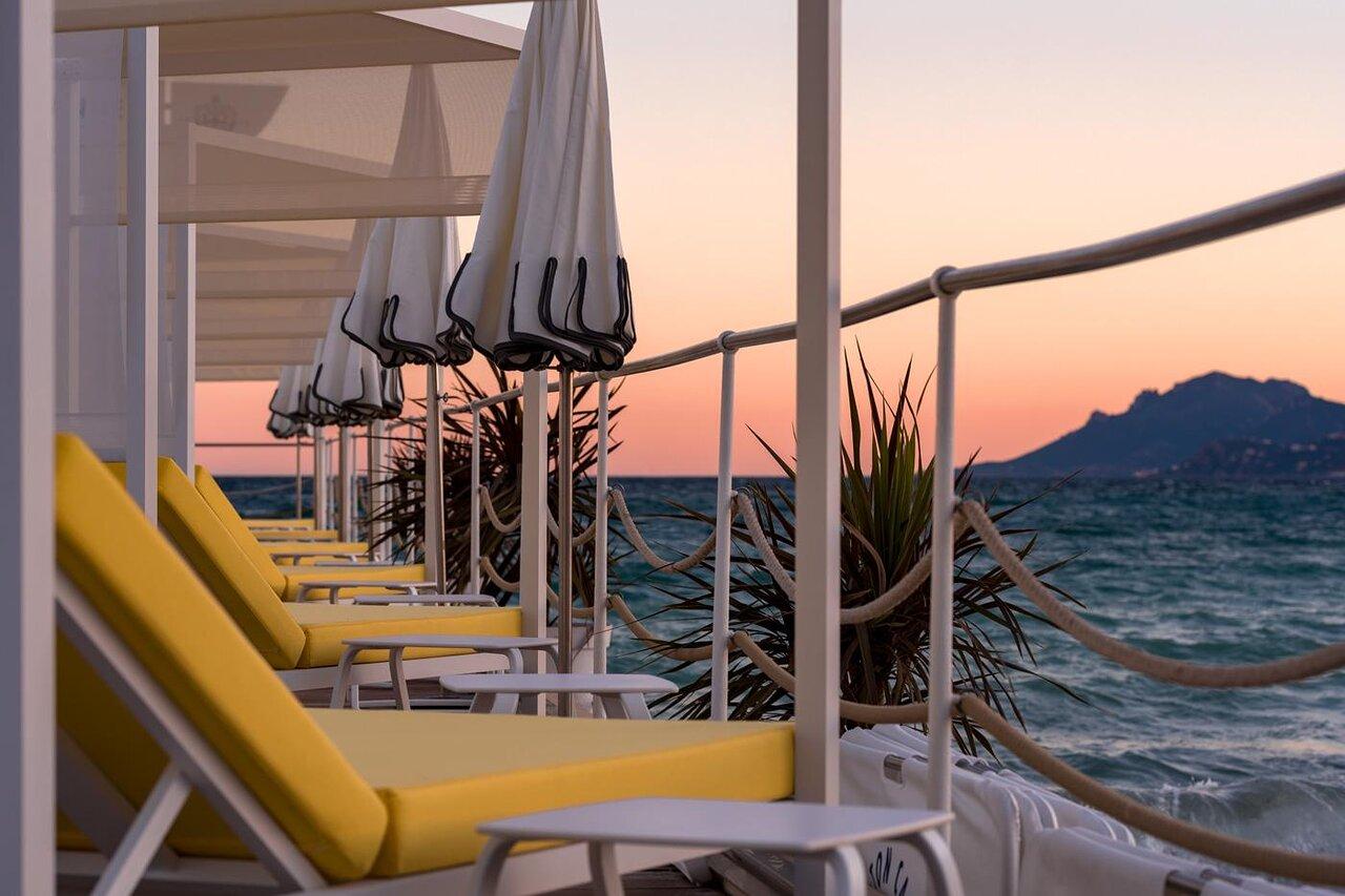 Private beach in Cannes