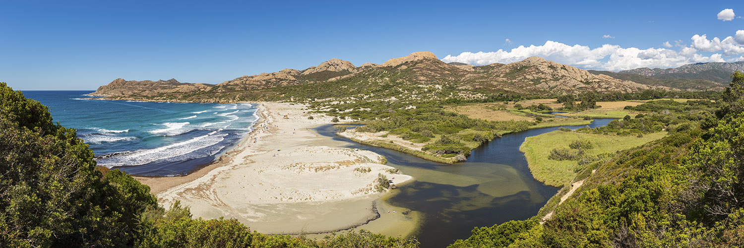 Panorama of the Desert of Agriates, Corsica