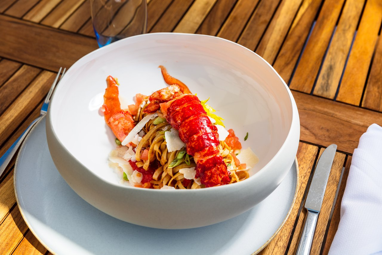 Dish at the Martinez private beach in Cannes