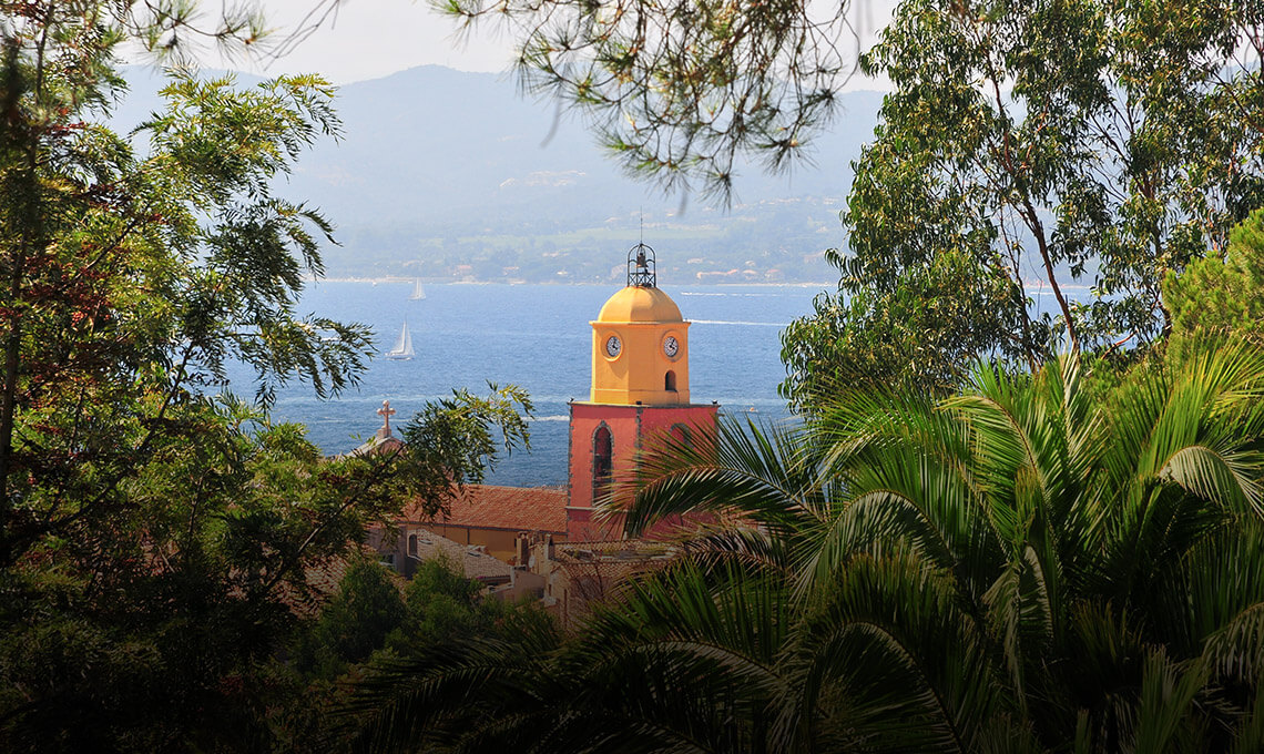 The famous bell tower of Saint-Tropez