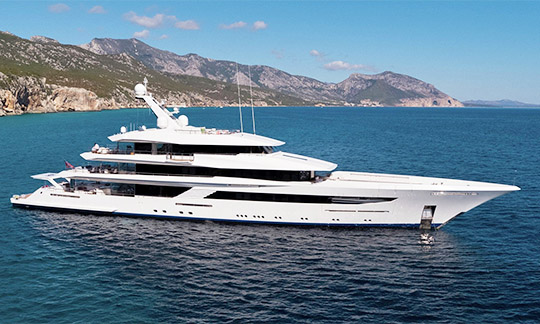 Feadship megayacht of 70 meters