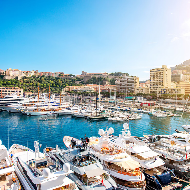 Yachts in the port of Monte Carlo, Monaco