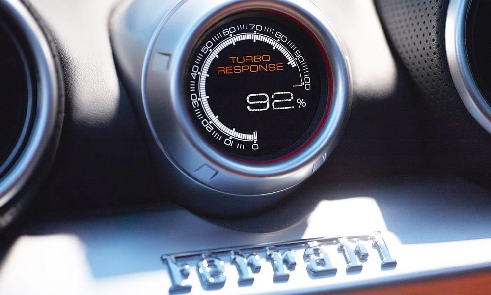Turbo response in a Ferrari