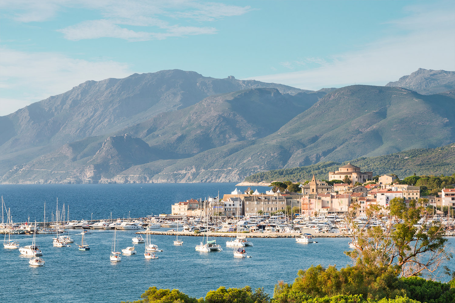 Panorama of the city of Saint-Florent, Corse