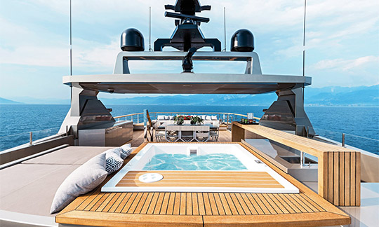 Jacuzzi on a luxury yacht