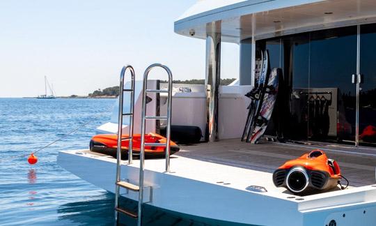 Yacht with seabob
