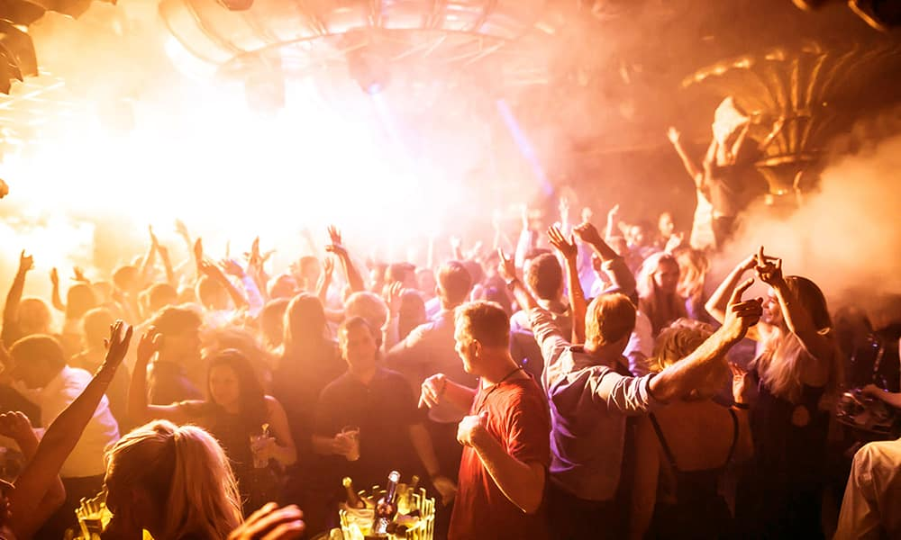 Nightclub on the French Riviera