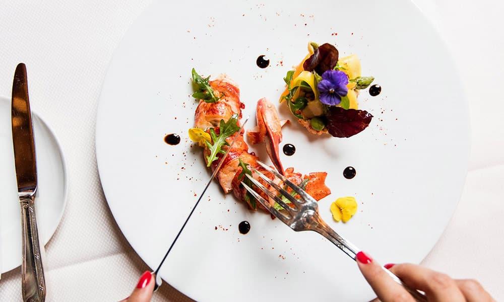 Plat d'un restaurant de la Côte d'Azur