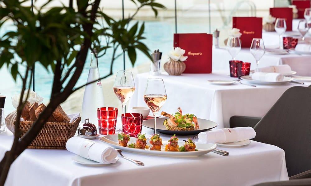 Hôtel de luxe avec restaurant gastronomique étoilé au Michelin