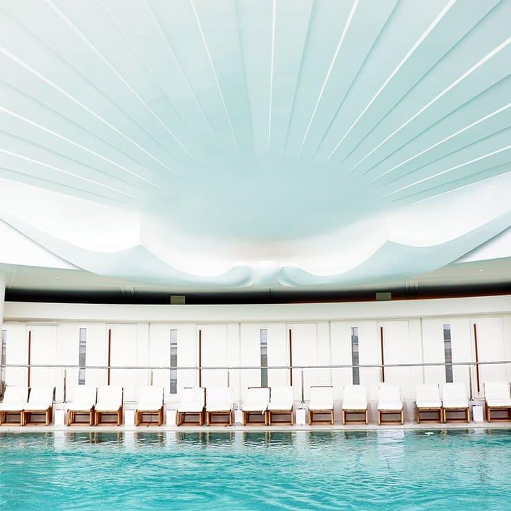 Indoor pool in the luxury Hotel l'Hermitage Monte-Carlo, Monaco