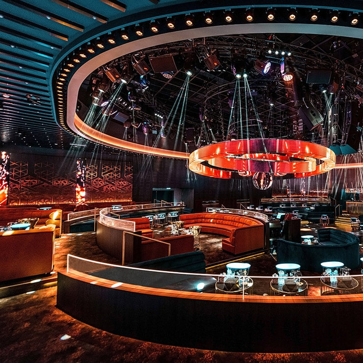 Nightclub in Cannes, French Riviera