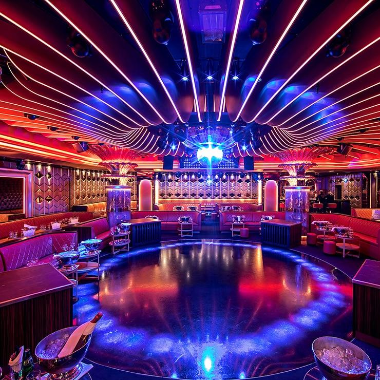 Nightclub in Saint-Tropez, French Riviera