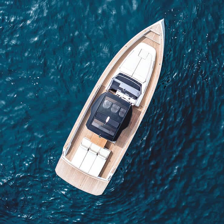 Luxury boat sailing on the French Riviera