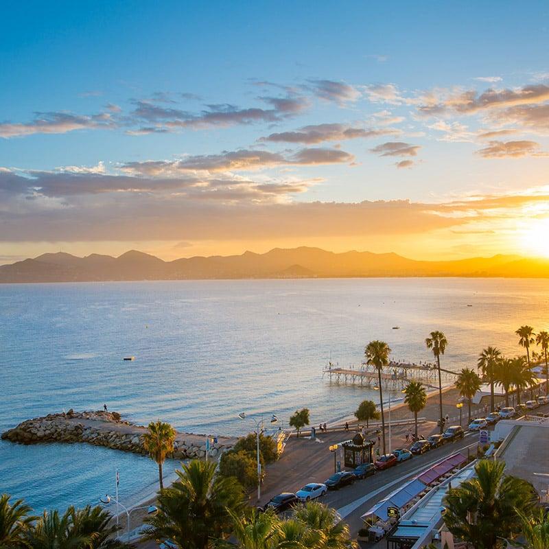 La ville de Cannes, Côte d'Azur, France