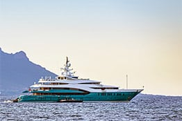 Luxury yacht in Cannes