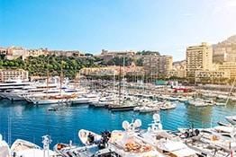 Luxury yacht in the port of Monte-Carlo, Monaco