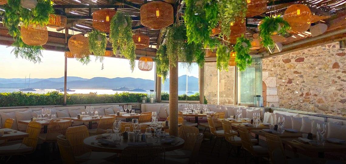 Restaurant in Saint-Tropez, French Riviera, France