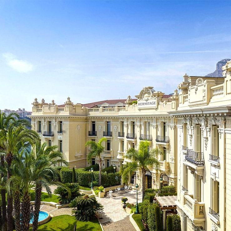 Luxury hotel in Monte Carlo, Monaco, French Riviera