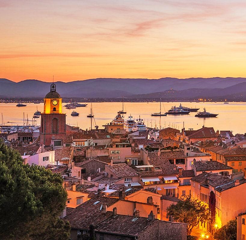 Le village de Saint-Tropez, Côte d'Azur, France