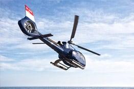 Hélicoptère au dessus de Monaco