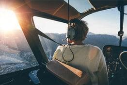 Hélicoptère au dessus de Nice