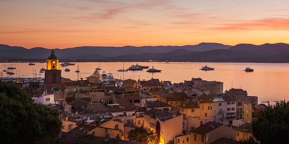 Sunset in the Gulf of Saint-Tropez