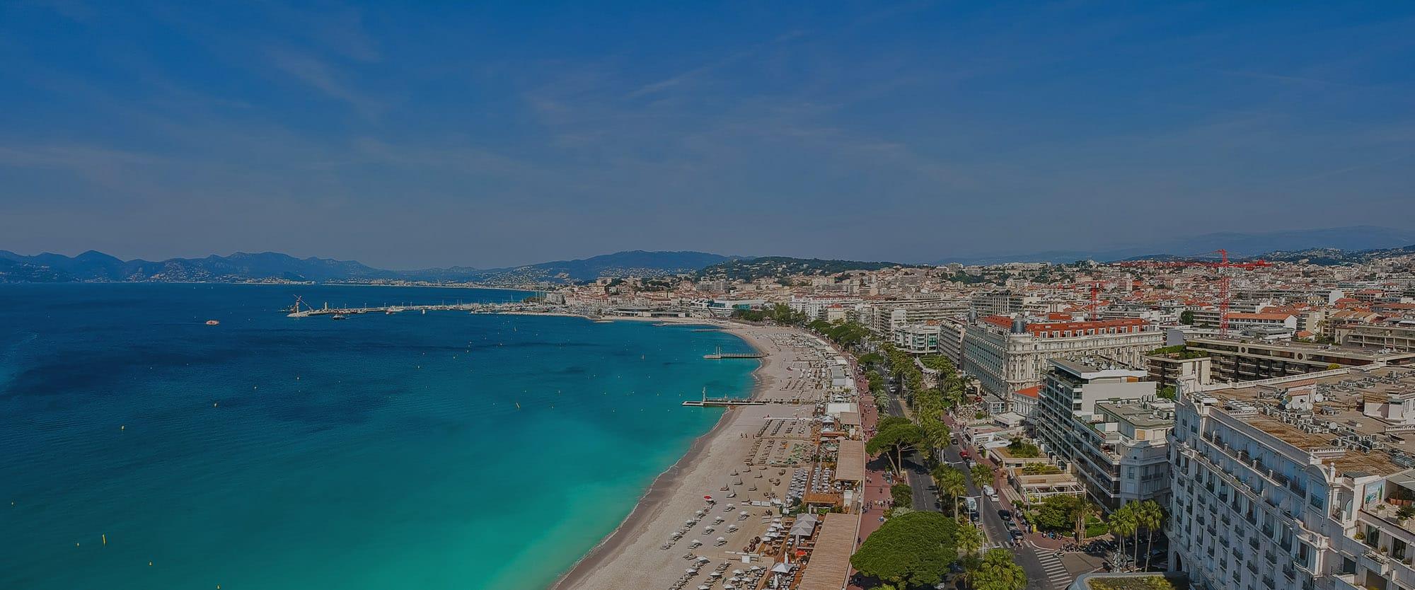 Panorama de Cannes, Côte d'Azur, Sud de la France