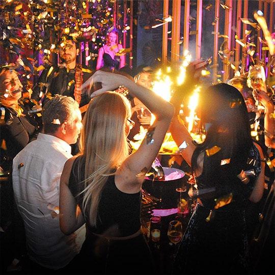 Nightclub in Saint-Tropez, French Riviera, France