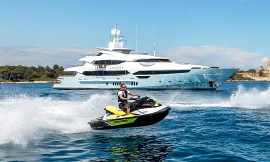 Luxury yacht with jet ski