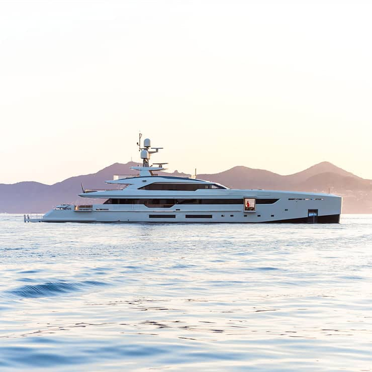 Luxury yacht anchored in Monaco