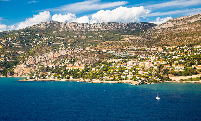 Aerial view of Nice, Côte d'Azur