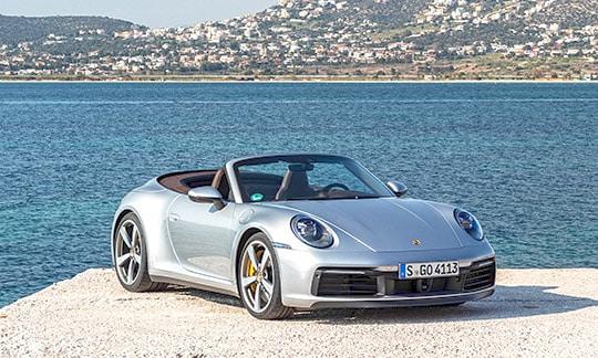 Voiture de luxe sur la Côte d'Azur, Sud de la France