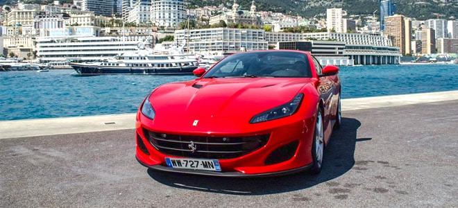 Luxury car in Monaco