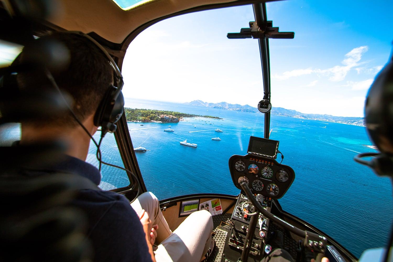 Vol en hélicoptère sur la Côte d'Azur