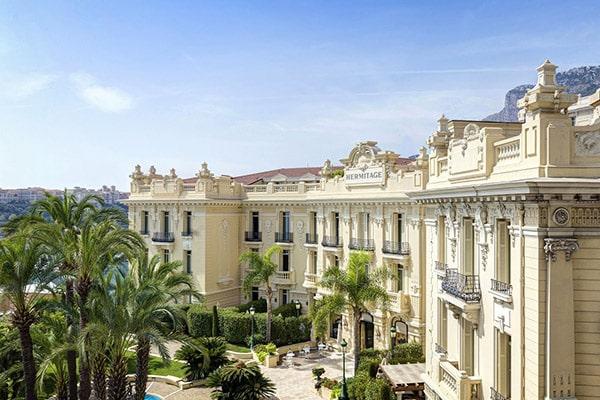 Front of the Hotel Hermitage Monte-Carlo in Monaco
