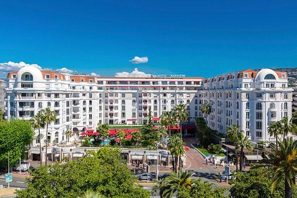 Le prestigieux hôtel Barrière Le Majestic Cannes