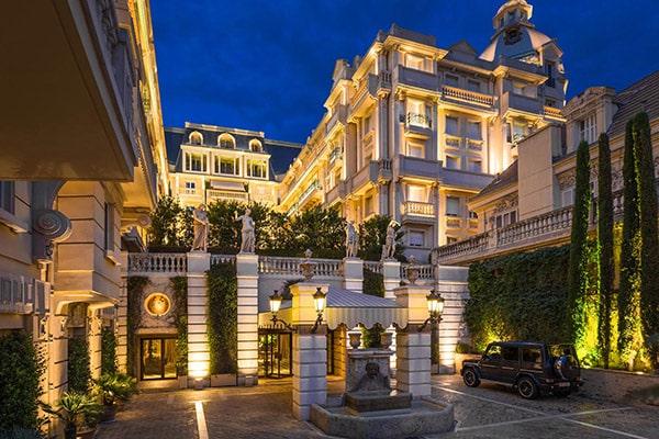 Façade of the Hotel Metropole Monte-Carlo in Monaco