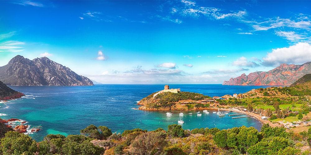 Panorama du Golfe de Girolata en Corse