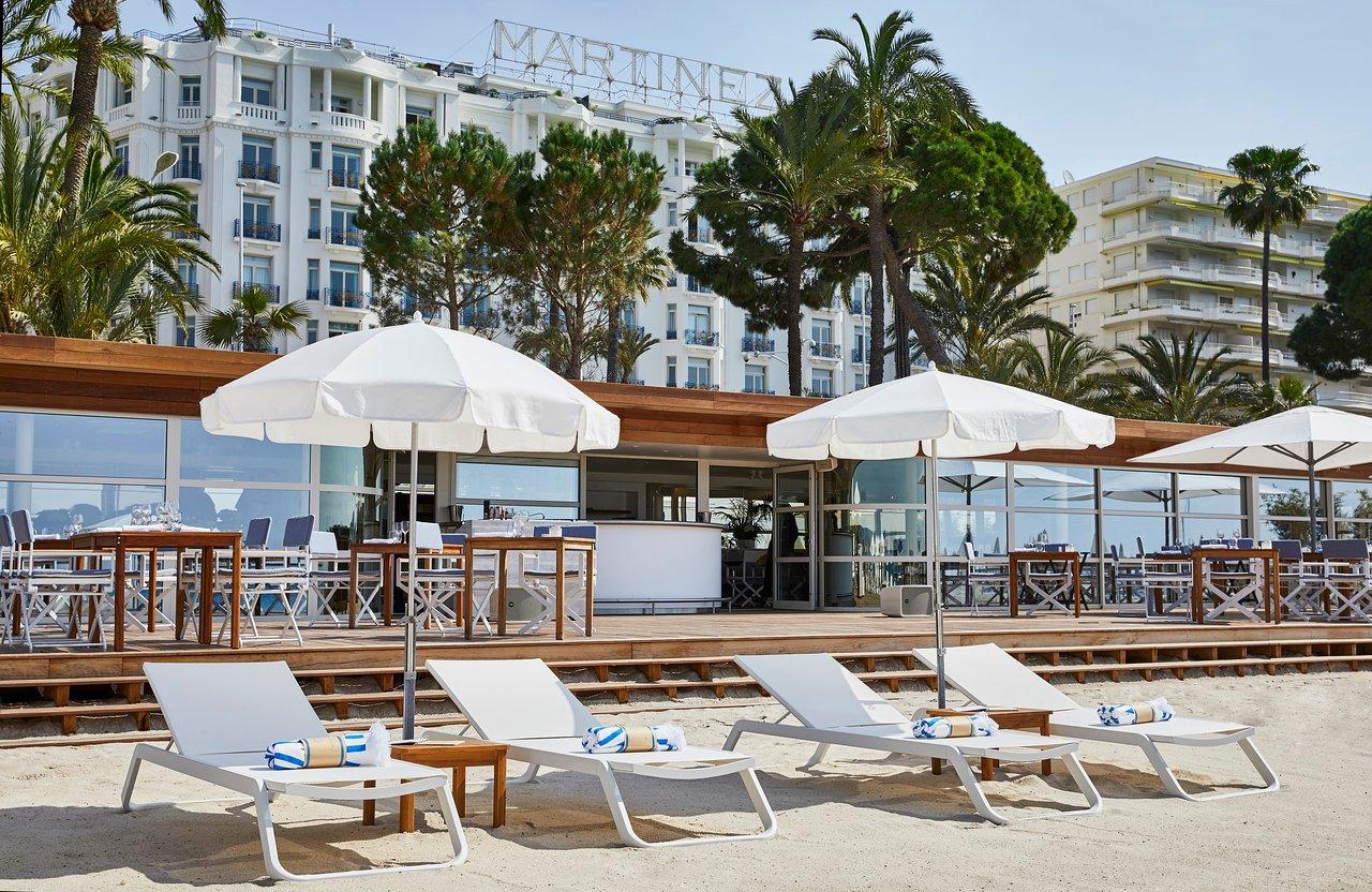 Plage de l'hôtel Martinez à Cannes