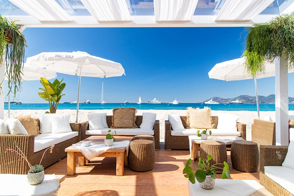 Nikki Beach 314 during the Cannes Film Festival and its view of the yachts