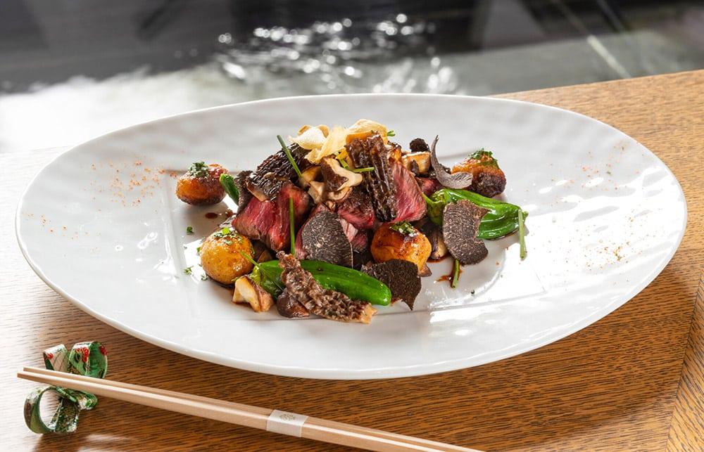 Photo d'un plat au restaurant Yoshi à Monaco