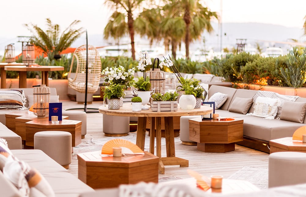 Photo of the Cloud Nine rooftop at the Baoli in Cannes