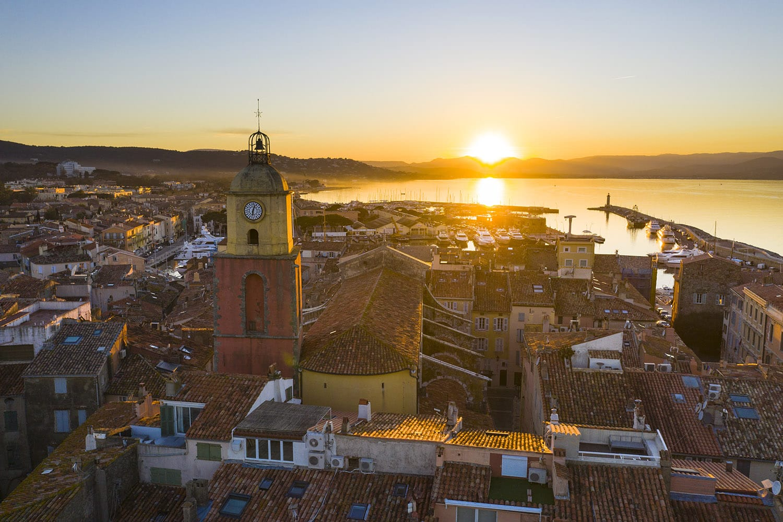 Coucher de soleil à Saint-Tropez