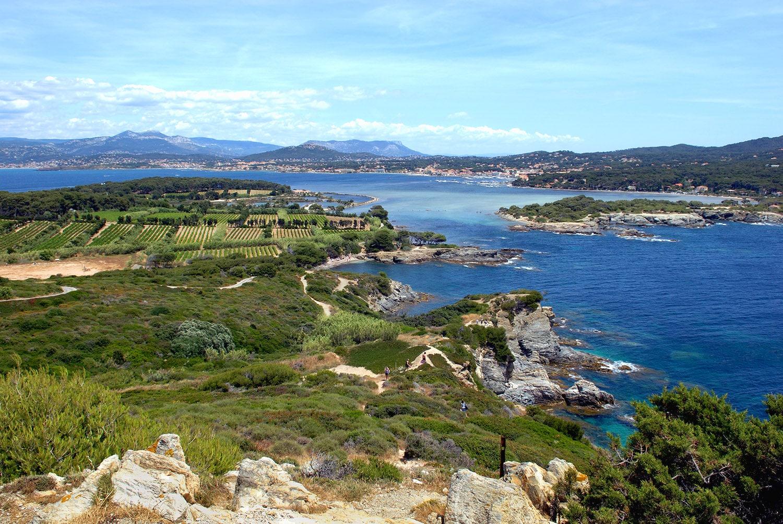 île des Embiez, du haut de la tour de la Marine